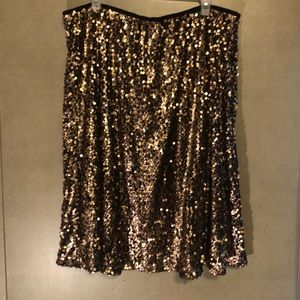 Ava and viv gold sequin skirt